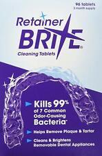 Retainer Brite 96 Tablets, Mouth guard DentureCleaner Plaque remove x 4 Boxes