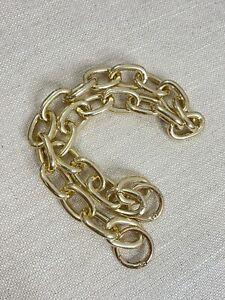 AUS Chunky statement chain Bag strap gold Oval 51cm shoulder baguette pochette