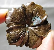 Fine flower orchid Boulder opal carving - 67 carats - Australia