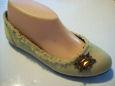 Vera Wang Simply Demitazza Citrine Green Satin Loafers Flat Shoe Size 6.5 cLOSeT