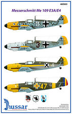 Messerschmitt Bf-109E 1/48 scale 48005 Hussar Productions decals