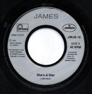 "James – She's A Star. 7"" Jukebox Single. Mint"
