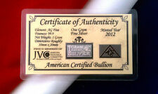 x10 ACB Silver 1 GRAM INGOT Bars 999 Bullion Pure Ag CERTIFICATE AUTHENTICIY ^