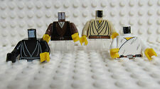 Lego Star Wars Minifig Torsos -  Lot of 4 - Jedi Luke Skywalker Obi Wan - New