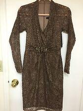 David Meister Leopard-Print Lace Dress Size 2 $495