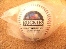 1997 Colorado Rockies Spring Training desert logo baseball ball with all teams