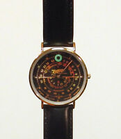 Old Antique Style Zenith Black Dial Wrist Watch - Vintage Wood Tube Radio Style!