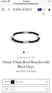 John Hardy Men Bracelet Silver And Onyx