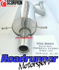 "Scorpion SSUB004 Stainless Back Box Subaru Impreza 2.0 Turbo WRX & STI 3.5"" Tail"