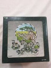 Zebra Vintage Miniature Tea Set 1998 Popular Imports 8 Piece TS 627