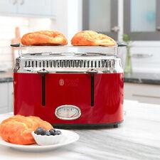 4-Slice Retro Style Toaster 6.15 lbs Durable Home Kitchen Baking Appliance