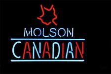 "New Molson Canadian Maple Leaf Logo Neon Light Sign 20""x16"""