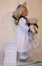 """HAMILTON COLLECTION DOLL """"RACHEL"""" HAND CRAFTER BISQUE PORCELAIN """"SAILING WITH TE"""