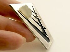 Sterling Silver Brooch by GSH W Halme??  Sweden  ABSTRACT DESIGN WITH GLASS HEAD