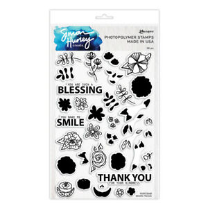 Ranger Ink Simon Hurley Clear Photopolymer Stamps Doodle Florals hur73048