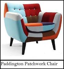 New ListingPatchwork Paddington Interior Decorator Tub Studio Reading Chair  Muti Colour