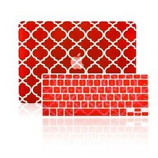 """Quatrefoil RED Case+Keyboard Cover for Macbook Pro 15"""" with Retina Model A1398"""