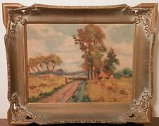 OLD ANTIQUE Fine Art OIL PAINTING impressionist artwork artist signed framed $$$