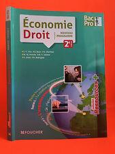 économie Droit 2e édition Foucher 2013