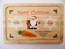 Personalised Father Christmas Eve Snack Plate  - Santa Treat Tray Board