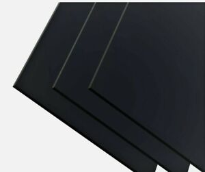 ABS Kunststoff Platte 500x1000 mm 4,5mm  schwarz genarbt  TOP QUALITÄT