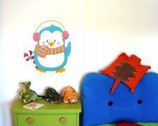 Weihnachts Pinguin Wandtattoo Wandaufkleber Kinderzimmer  5 Größen