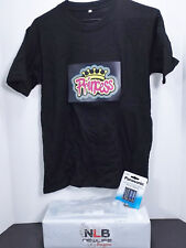 Sound Activated Light Up T-Shirt Princess Black Size Small FLASHING MUSIC WEAR