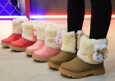 Kid Girl Princess Winter Snow Boots Baby Toddler Casual Outdoor Sneaker Shoes