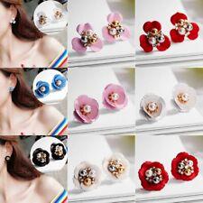 Fashion Boho Painting Flowers Ear Stud Earrings Women Charm Jewelry Summer Gifts