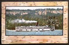ss Homer Ramsdell . Central Hudson Steamboat Co Cruise Ship River Boat Palisades