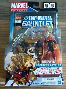Marvel's Greatest Battles Comic Packs Thanos and Adam Warlock - NEW!