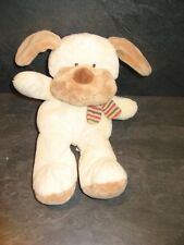 peluche doudou chien marron beige écharpe rayure the baby collection nicotoy