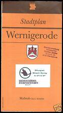 Stadtplan, Wernigerode, 1988