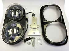 Dual LED Headlight Motorcycle Lights Assembly Kit Harley Road Glide 2004-2013