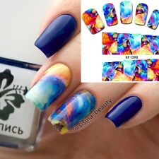 Full Nail Water Decals Transfer Stickers Wraps Nail Art Decoration Oil Painting