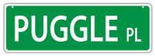 Plastic Street Signs: Puggle Place | Dogs, Gifts, Decorations