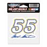 "New NASCAR Mark Martin 55  3-1/4"" by 3-1/2""  Die Cut Decal"