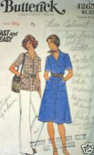 Vintage Butterick Pattern Dress Top Pants Belt 4265 16