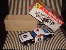 "TAIYO VINTAGE, FULLY WORKING W/ORIGINAL BOX, ""HIGH WAY PATROL"" TORONADO TIN CAR!"