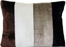 Striped Cushion Cover Velvet Fabric Designers Guild Stripes Black Grey Egmont