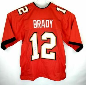 Tom Brady Buccaneers Hand Signed Autographed New Red NFL Jersey With COA