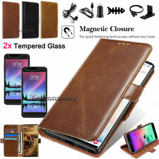 For Lg K20 Plus K20 V Harmony Leather Wallet Case Card Slots Stand Cover Pouch