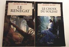 lot 2 livres Le Soldat Chamane robin hobb tbe