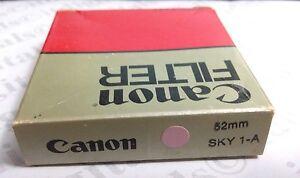 Genuine Canon 52mm Skylight 1A Glass Lens Filter 52 mm USA Made SL-1A Sky1