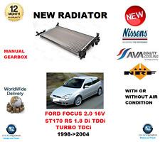 FOR FORD FOCUS HATCH 2.0 16V ST 170 RS 1.8 Di TDDi TURBO TDCi 1998-2004 RADIATOR