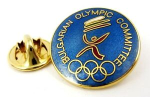 Bulgarian Olympic Committe NOC Pin Badge 1990s Generic Enamel Very rare