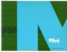 BL Mini Product Guide 1979 UK Market Salesmans Brochure 850 1000 Clubman 1275 GT