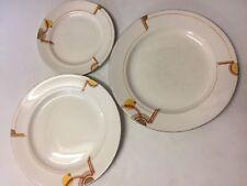 Set Of Three Vintage Art Deco Plates Losol Ware Keeling And Co.