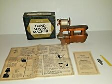 Vintage Loring Plastic Hand Sewing Machine, complete and tested, working