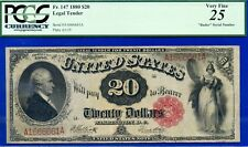 Rare 1880 $20 US Note (( Only Known Radar )) PCGS 25 Legal Tender *A16666661A*.